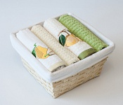Basket with towels Pear - Green Pear