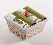 Basket with towels Cactus - Tropic