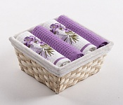 Basket with towels Flowers