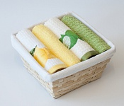 Basket with towels Lemon - Lime