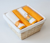 Basket with towels Mandarine - Juice