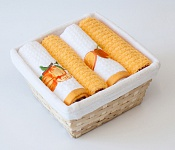 Basket with towels Mandarine - Nectarine