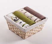 Basket with towels Olives - Virgin