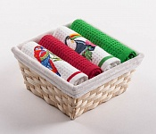 Basket with towels Parrot - Tucan