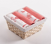 Basket with towels Three Flamingos - Butterflies