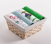 Basket with towels Flamingo - Tucan
