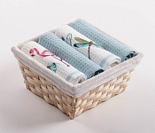 Basket with towels Flamingo - Dragon Flies