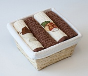 Basket with towels Icecream - Nut