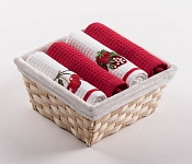 Basket with towels Cherry - Strawberry