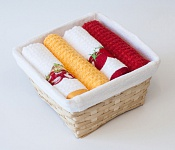 Basket with towels Vegetables - Tomato