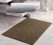 Bath mat Adria dark brown