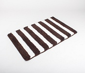 Bath mat SOFT Stripes dark brown