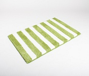 Bath mat SOFT Stripes green