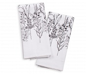 Kitchen Towel Herbarium Black