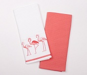 Kitchen towels Three Flamingos