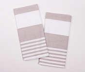 Kitchen towels Stripes brown
