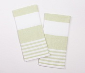 Kitchen towels Stripes green