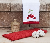Kitchen towels Cherry white