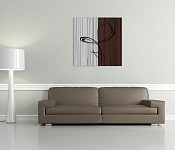 Canvas Print Eternity Choco