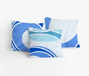 Cushion covers Kali blue