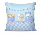 Pillowcase Fairytale Train Blue
