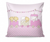 Pillowcase Fairytale Train Pink