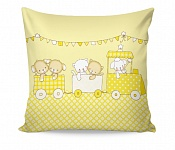 Pillowcase Fairytale Train Yellow