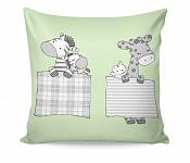 Pillowcase Sleeping ZOO green