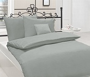Bedding Cotton Satin Metallic Grey