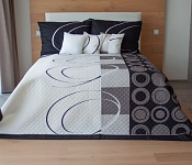 Bedspread Royal Black