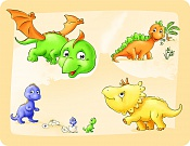 Placemat Little Dinosaurs