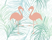 Placemat Flamingos