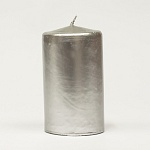 Silver candle barrel - metal